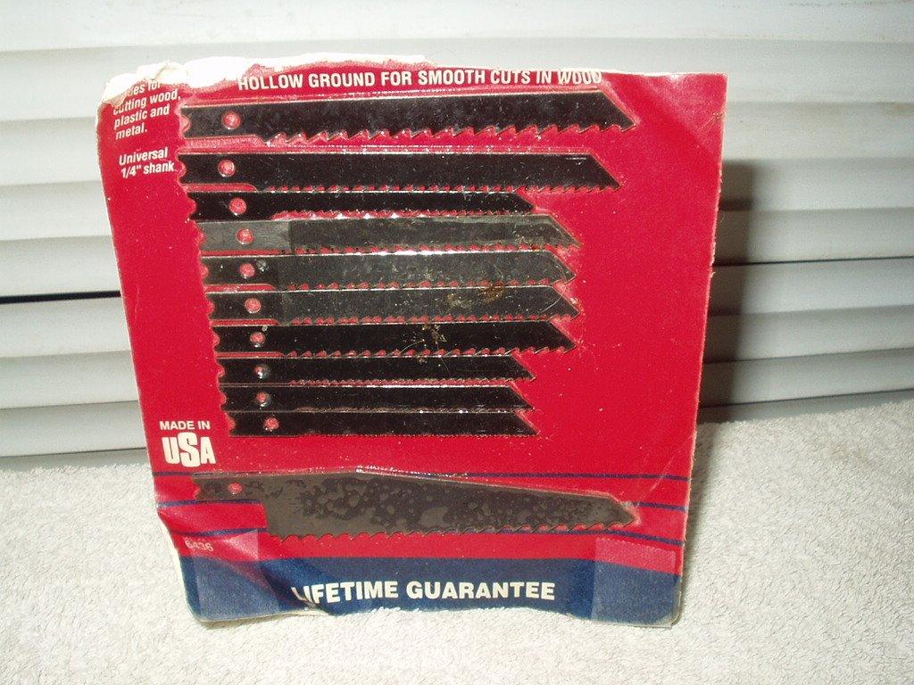 blu-mol jig saw blades 11 ea for wood plastic metal plaster & formica # mc-9296436a usa made