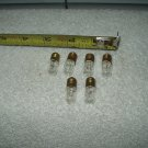 "miniature light bulbs 2.5 volt screw in flashlight hobby 1 .19"" total length lot of 6"