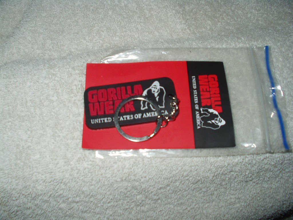 gorrilla wear usa gw rubber men logo keychain us shipper