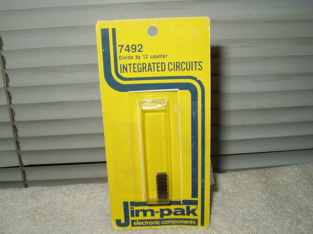 vtg jim-pak 7492 divide by 12 counter# dm7492an 14 pin dip 1 each