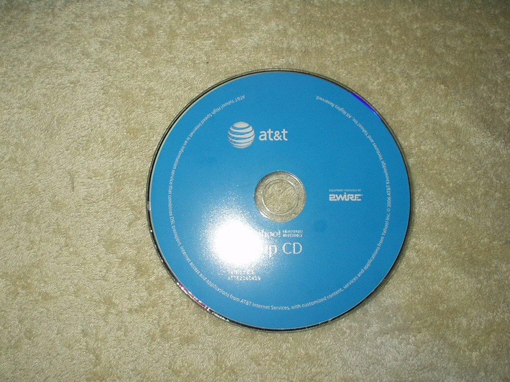AT&T YAHOO! BACKUP CD high speed internet version 6.1 #ATT62140419