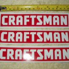 """craftsman tools set of 3 full color vinyl stickers slight imperfect 7.25"""" wide!"""
