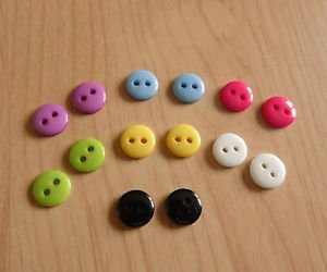 button EARRINGS  9mm STUD silver plated red blue black pink acrylic unisex