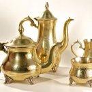 ANTIQUE SILVER PLATED COFFEE TEA POT E.P.N.S. SET