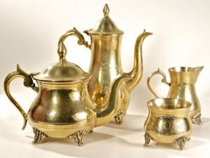 ANTIQUE SILVER PLATED COFFEE TEA POT E.P.N.S. SET