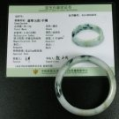 NATURAL 100% GREEN JADEITE BANGLE JADE WITH CERTIFICATE GRADE A - 57MM