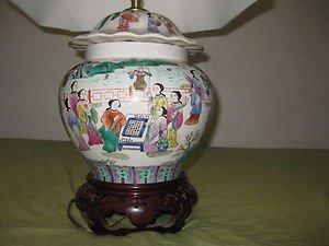 ANTIQUE RARE CHINESE PORCELAIN VASE LAMP