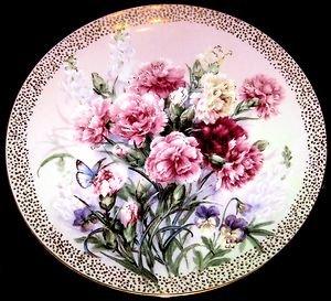 Carnation Serenade by Lena Liu /Symphony of Shimmering Beauty 1992-Plate # 4022A