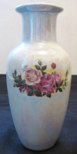 Antique Chinese Western Export Famille Rose Foil Porcelain Vase,19th Century,NR