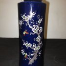 VINTAGE JAPANESE PORCELAIN VASE BLUE COLOR HAND PAINTED, NR.