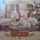 GRANDEUR NOEL PORCELAIN DEER FAMILY COLLECTOR'S EDITION 1999