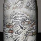 Chinese Enamelled Baluster Porcelain Vase By Artist He Xuren Signed