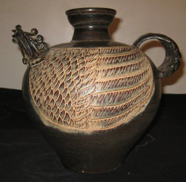 Antique Chinese Southern Song dynasty Pottery Tea Pot, 12th or 13th Century