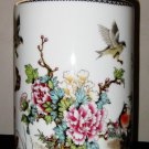 Chinese Republican Artist Bi Botao Work On Art, Famille Rose Porcelain Vase