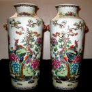 A Pair Of Rare Phoenix,Chinese Antique Vases.Qing Period, XianFeng Mark