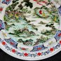 ANTIQUE BIG CHINESE PORCELAIN CHARGER 45 cm, HAND PAINTED KANG -XI  MARK, NR