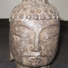 Chinese Schist Stone Buddha Head 18th C Qing Dynasty Museum China Artifact Relic.