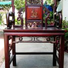Antique Carved Chinese Wood Dragons Armchair - 19th Century.