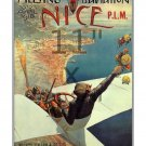 Meeting d Aviation Nice - 11x17 inch Vintage Early Aviation Poster