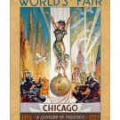 1933 Chicago Worlds Fair #1 Columbia Vintage Poster [4 sizes matte+glossy avail]