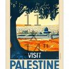 Visit Palestine - 11x14 inch Vintage Travel Poster