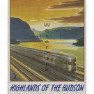 NY Central RR Higlands of the Hudson Travel Poster [6 sizes, matte+glossy avail]