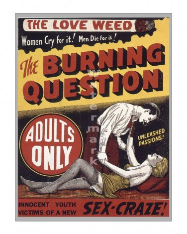 Reefer Madness #3 - Vintage Film Movie Poster [4 sizes, matte+glossy avail]