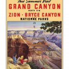 Grand Canyon #1 - Vintage Travel Poster [4 sizes, matte+glossy avail]