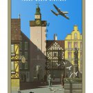 TWA Germany - Vintage Airline Travel Poster [6 sizes, matte+glossy avail]