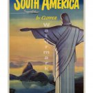 Pan Am South America #1 Airline Travel Poster [6 sizes, matte+glossy avail]