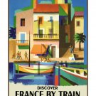 Discover France by Train - 11x17 inch Vintage Rail Travel Poster
