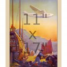Pan Am Transpacific Flight - 11x17 inch Vintage Airline Travel Poster