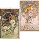 Alphonse Mucha - The Arts - 4 11x17 inch Art Nouveau Poster Set