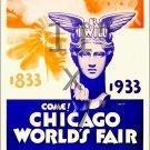 1933 Chicago World's Fair #2 - 11x17 Vintage Art Deco Poster