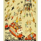 Lure of the (London)Underground Vintage Poster [6 sizes, matte+glossy avail]