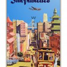 San Francisco #3 - Vintage Airline Travel Poster [4 sizes, matte+glossy avail]