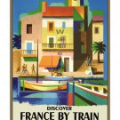 Discover France by Train - Vintage Travel Poster [6 sizes, matte+glossy avail]
