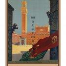 Tuscany - Siena - Vintage Italian Travel Poster [6 sizes, matte+glossy avail]
