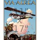 Key West Habana - Via Aerea - 11x17 inch Vintage Airline Travel Poster