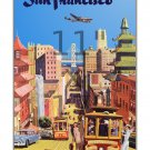 San Francisco #3 - Vintage Airline Travel Poster - 11x17 inches