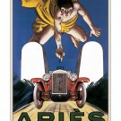 Aries Automobiles - Vintage Automobile Poster [6 sizes, matte+glossy avail]