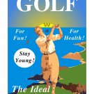 Let's Play Golf! Vintage Style Golf Poster/Print [6 sizes, matte+glossy avail]