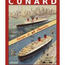 Cunard Lines Vintage Sea Steamship Travel Poster [4 sizes, matte+glossy avail]