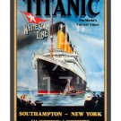 Titanic #1 White Star Line - 11x17 inch Sailing Notice/Poster (charcoal matte)
