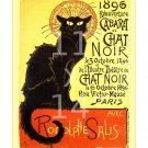Cabaret du Chat Noir - 11x14 inch Vintage French Parisian Cafe Poster/Print
