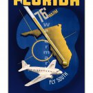 Eastern Airlines - Florida - Vintage Travel Poster [6 sizes, matte+glossy avail]