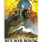 Angry Uncle Sam War Bonds US WWII Propaganda Poster [4 sizes matte+glossy avail]