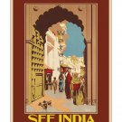 See India #3 - Vintage Travel Poster [4 sizes, matte+glossy avail]