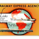 Railway Express Agency - Vintage Railroad Poster [4 sizes, matte+glossy avail]