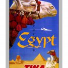TWA Egypt - Vintage Airline Travel Poster [6 sizes, matte+glossy avail]
